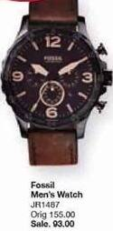 Belk Black Friday: Fossil Men's Nate Chronograph Brown Leather Watch for $93.00