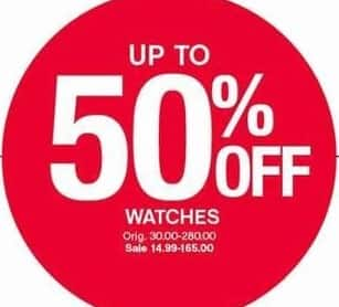 Belk Black Friday: Watches for $14.99 - $165.00