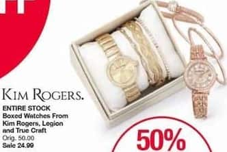 Belk Black Friday: Entire Stock Boxed Watches from Kim Rogers, Legion and True Craft for $24.99