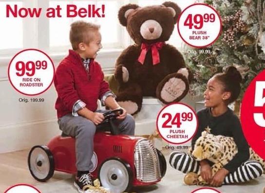 Belk Black Friday: Ride on Roadster Toy for $99.99