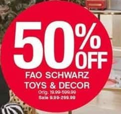 Belk Black Friday: FAO Schwarz Toys and Decor - 50% Off