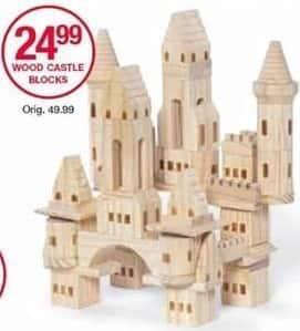 Belk Black Friday: Wood Castle Blocks for $24.99