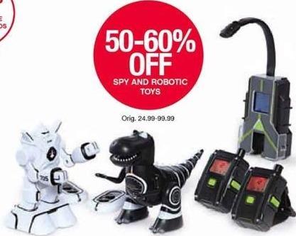 Belk Black Friday: Spy and Robotic Toys for $24.99 - $99.99