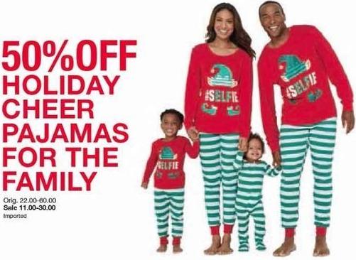 Belk Black Friday: Men's, Women's, and Kids Holiday Cheer Pajamas - 50% Off