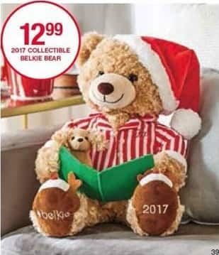 Belk Black Friday: 2017 Collectible Belkie Bear Doll for $12.99