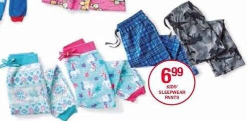 Belk Black Friday: Kids' Sleepwear Pants for $6.99