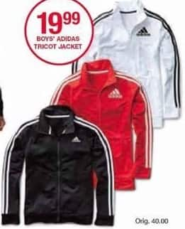 Belk Black Friday: Adidas Boys' Tricot Jacket for $19.99