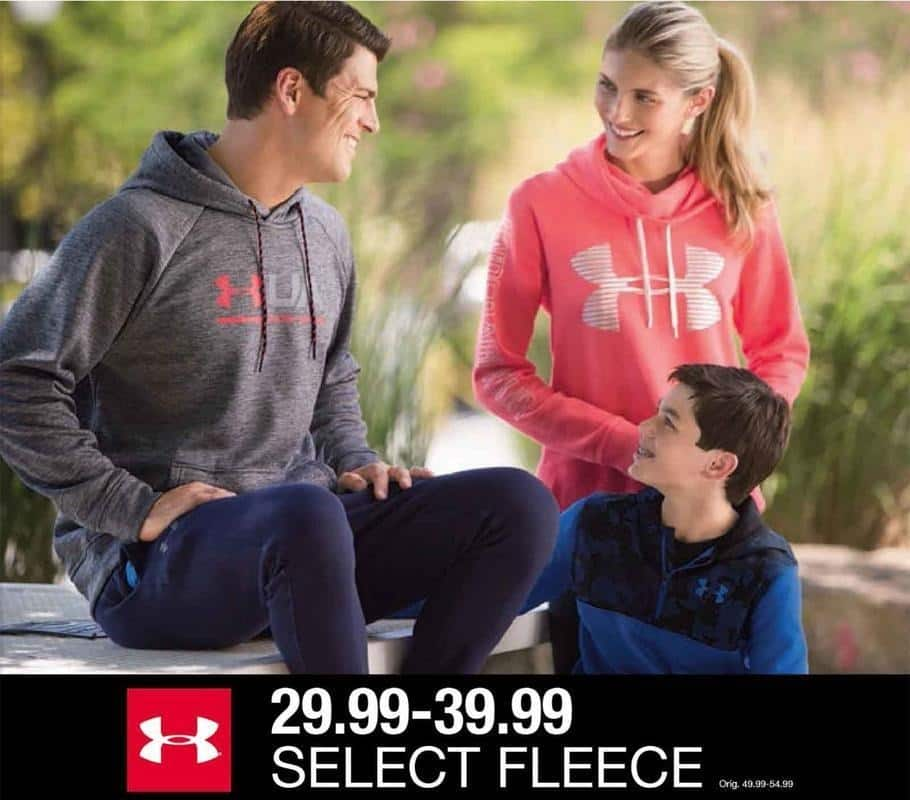 Belk Black Friday: Under Armour Fleece in Select Styles for $29.99 - $39.99
