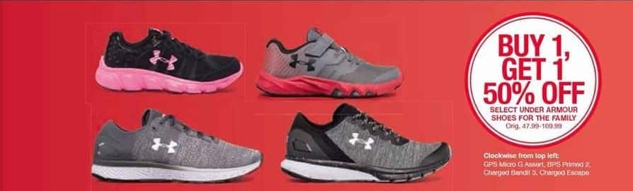 Belk Black Friday: Under Armour Shoes, Select Styles - B1G1 50% Off