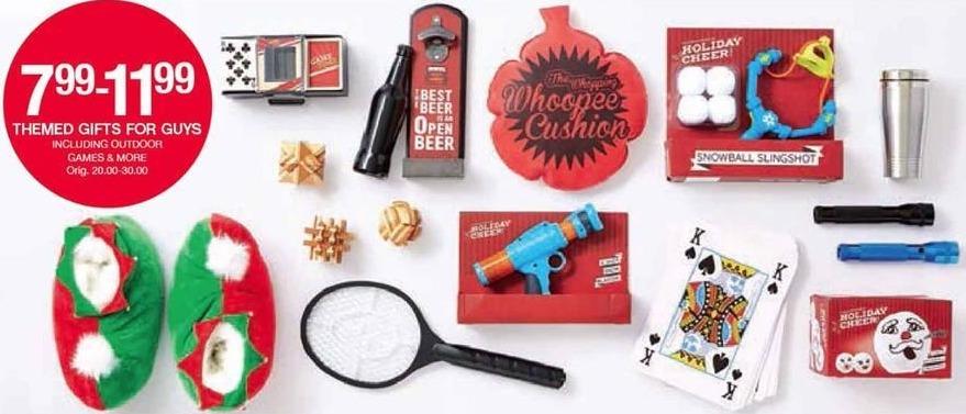 Belk Black Friday: Guys Themed Gifts for $7.99 - $11.99