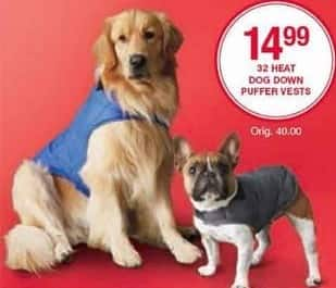 Belk Black Friday: 32 Heat Dog Down Puffer Vests for $14.99