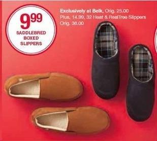 Belk Black Friday: Saddlebred Boxed Slippers for $9.99
