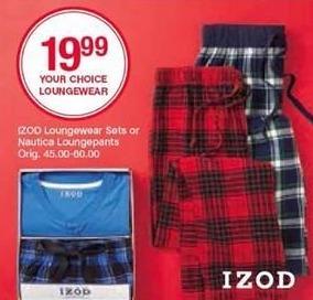 Belk Black Friday: IZOD Men's Loungewear Sets for $19.99