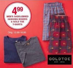 Belk Black Friday: Goldtoe Men's T-Shirts for $4.99