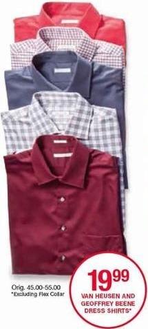Belk Black Friday: Men's Dress Shirts from Van Heusen and Geoffrey Beene for $19.99