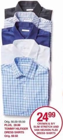 Belk Black Friday: Crown & Ivy Men's Slim Stretch Dress Shirts for $24.99