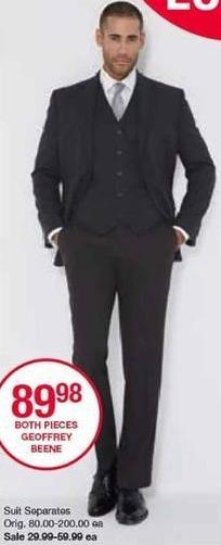 Belk Black Friday: Geoffrey Beene Men's Suit Seperates for $29.99 - $59.99