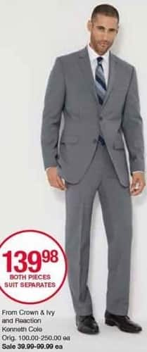 Belk Black Friday: Men's Separates from Crown & Ivy and Reaction Kenneth Cole for $39.99 - $99.99