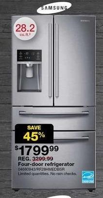 Sears Black Friday: Samsung 28.2-cu. ft. 4-Door French Door Refrigerator for $1,799.99