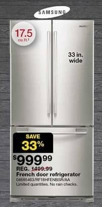 Sears Black Friday: Samsung 17.5 Cu. Ft. French Door ...