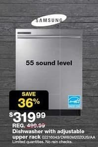 "Sears Black Friday: Samsung 24"" 55dB Sound Level Stainless Steel Door Dishwasher for $319.99"