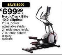 Sears Black Friday: NordicTrack Elite 10.9 Elliptical for $699.99