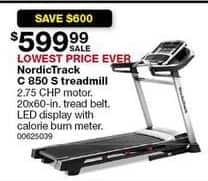 Sears Black Friday: NordicTrack C850 S Treadmill for $599.99