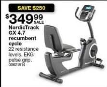 Sears Black Friday: NordicTrack GX 4.7 Recumbent Cycle for $349.99