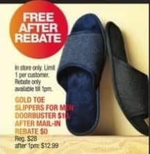 Macy's Black Friday: GoldToe Men's Slippers for Free after $10 rebate