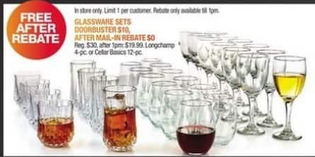 Macy's Black Friday: Longchamp 4-pc. Glassware Set for Free after $10 rebate