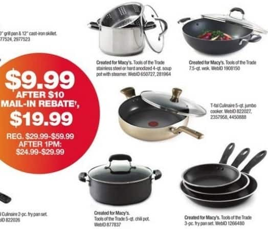Macy's Black Friday: Tools of the Trade 7.5 Qt. Covered Wok for $9.99 after $10 rebate