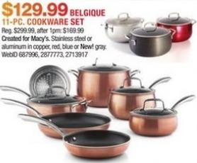 Macy's Black Friday: Belgique 11-Piece Cookware Set for $129.99