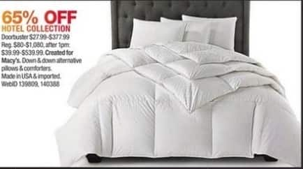 Macy's Black Friday: Hotel Collection Bedding - 65% Off