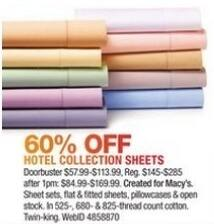 Macy's Black Friday: Hotel Collection Sheets - 60% Off