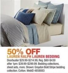 Macy's Black Friday: Lauren Ralph Lauren Bedding - 50% Off