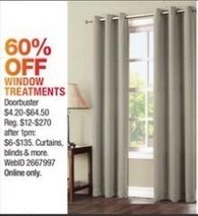 Macy's Black Friday: Window Treatments - 60% Off