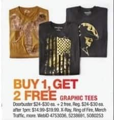 Macy's Black Friday: Graphic Tees - B1G2 Free
