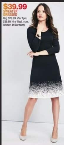 Macy's Black Friday: Women's Sweater Dresses from Nine West and More for $39.99