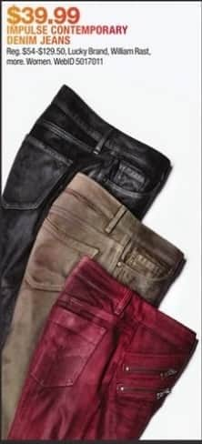 Macy's Black Friday: Women's Impulse Contemporary Denim Jeans from Lucky Brand, William Rast and More for $39.99