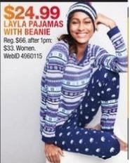 Macy's Black Friday: Layla Women's Pajamas w/ Beanie for $24.99