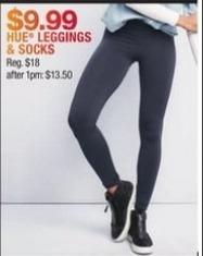Macy's Black Friday: Hue Women's Leggings and Socks for $9.99