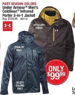 Cabelas Black Friday: Under Armour Men's ColdGear Infrared Porter 3-in-1 Jacket for $99.99
