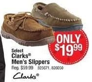 Cabelas Black Friday: Clarks Men's Slippers, Select Styles for $19.99