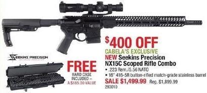 Cabelas Black Friday: Seekins Precision NX15C Scoped Rifle Combo, .223 Rem/5.56 NATO for $1,499.99