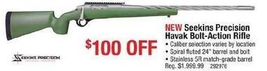 Cabelas Black Friday: Seekins Precision Havak Bolt-Action Rifle, Select Calibers for $1,899.99