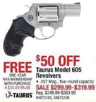 Cabelas Black Friday: Taurus Model 605 Revolvers,  357 Mag and 1