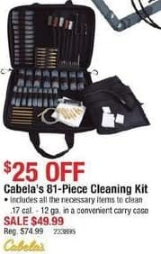 Cabelas Black Friday: Cabela's 81-Piece Cleaning Kit for $49.99