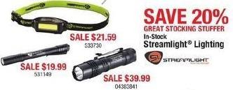 Cabelas Black Friday: Streamlight Lighting - 20% Off