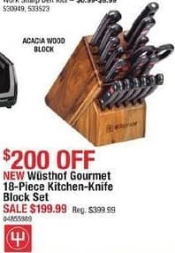 Cabelas Black Friday: Wusthof Gourmet Kitchen-Knife Block Set, 18-Piece for $199.99