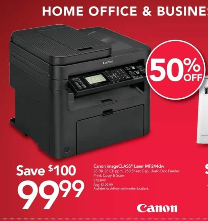 Office Depot and OfficeMax Black Friday: Canon ImageCLASS MF244dw All-in-One Laser Printer for $99.99